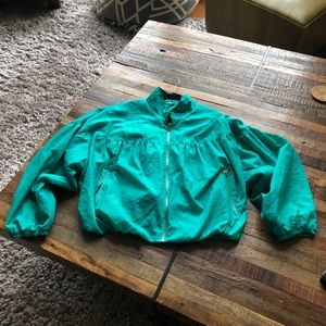 Free People Teal Windbreaker/Jacket